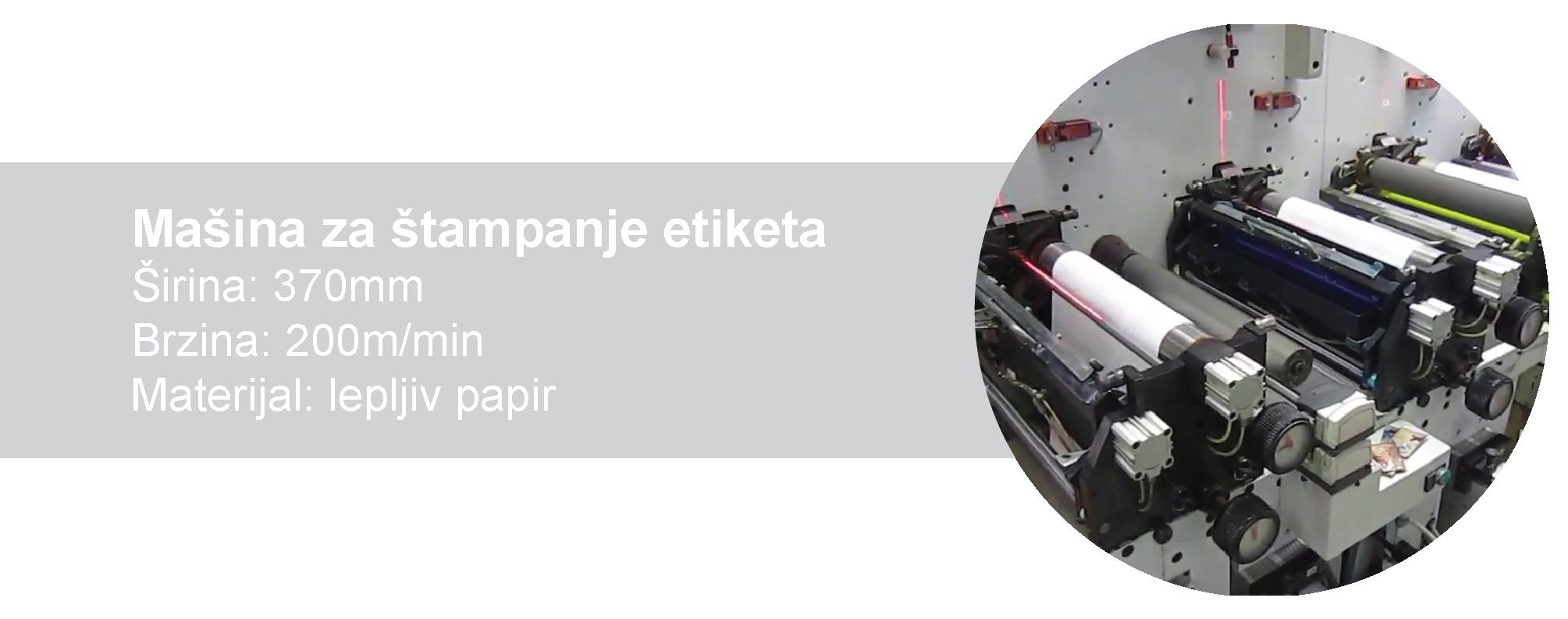 Mašina za štampanje etiketa