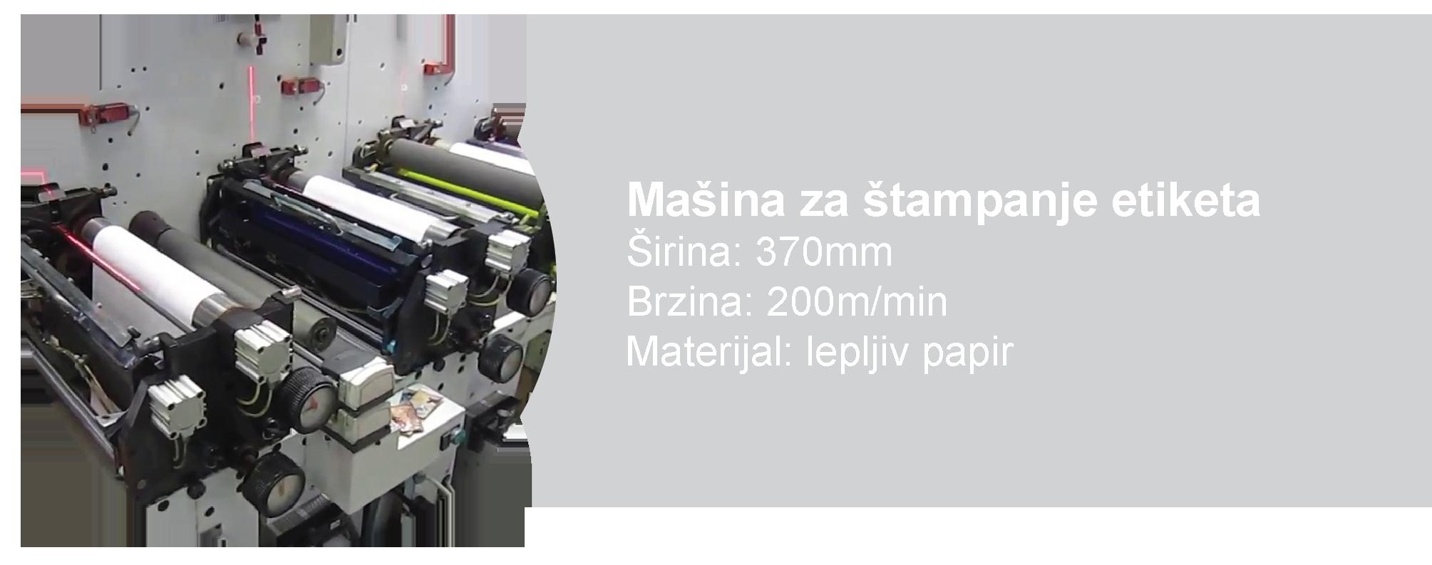 Linijska mašina za štampanje etiketa